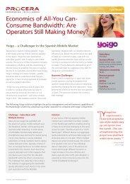Yoigo Case Study - Procera Networks