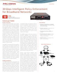 30 Gbps Intelligent Policy Enforcement for ... - Procera Networks