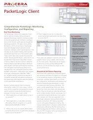 PacketLogic Client - Procera Networks
