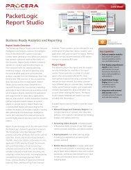 PacketLogic Report Studio