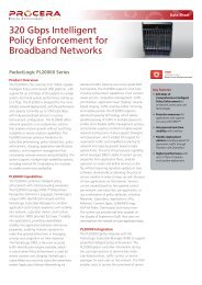 320 Gbps Intelligent Policy Enforcement for Broadband Networks