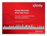 Rocky Mountain IPv6 Task Force