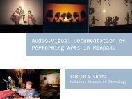 Performing Arts in Minpaku