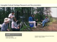 Intangible Cultural Heritage Research and Documentation