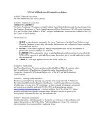 P/PA/C M Professional Practice Group Bylaws Article I: Name of ...