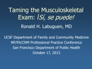 Taming the Musculoskeletal Exam İSí