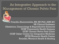Managing Chronic Pelvic Pain Patients - NP/CNM/PA Professional ...