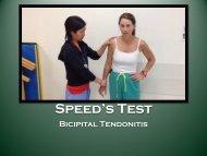 Speed's Test