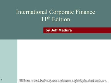 International Corporate Finance 11 Edition