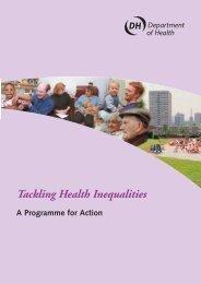 Tackling Health Inequalities