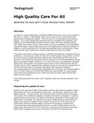 High Quality Care For All