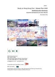 Study on Hong Kong Port – Master Plan 2020