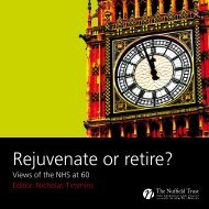 Rejuvenate or retire? - NHS History