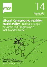Liberal –Conservative Coalition Health Policy ... - NHS History