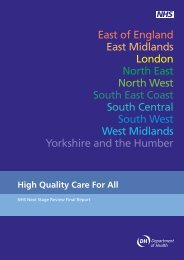 High Quality Care For All - NHS History