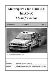 Clubfahrt zur Formula Rallye Grün- dautal - MSC Daun