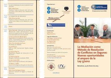 La Mediación como Método de Resolución de ... - Àrea de Dret Civil