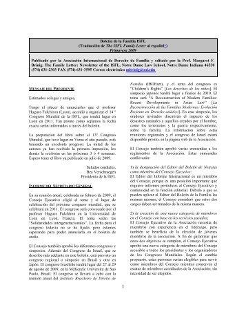 The ISFL Family Letter - Universitat de Girona