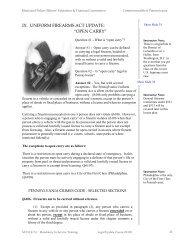 "IX. UNIFORM FIREARMS ACT UPDATE: ""OPEN CARRY"" - Lildobe.net"