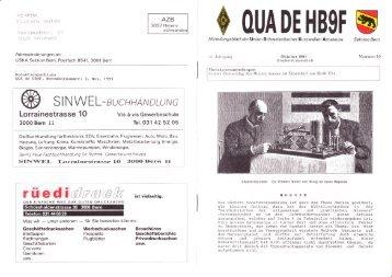 Oktober 1991 - HB9F