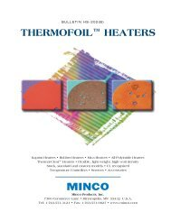 THERMOFOIL™ HEATERS - Temflex Controls