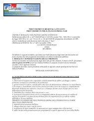 PER INDIVIDUAZIONE INTERVENTI Del - Il sito delle norme della ...