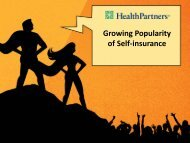 Growing Popularity of Self‐insurance