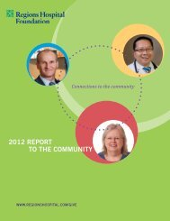 2012 REPORT TO THE COMMUNITY - Regions Hospital