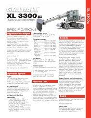 Gradall XL3300 III Specifications - Highway Equipment