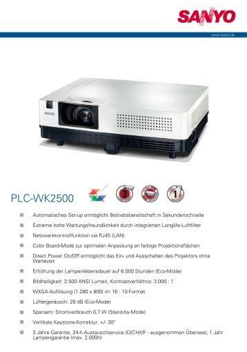 PLC-WK2500 - Beamer-Discount