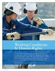 Working Conditions & HumanRights