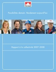 Télécharger le Rapport à la collectivité 2007 - Report on Sustainability