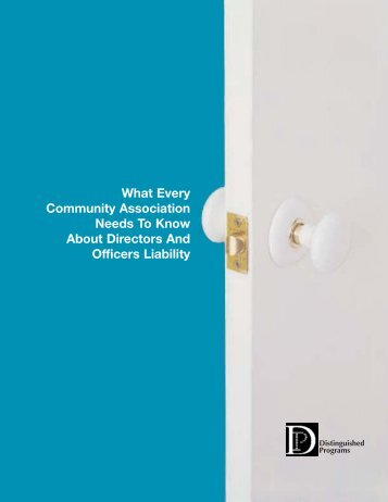 What Every Community Association Needs to Know About Directors ...
