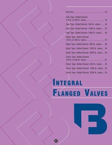 INTEGRAL FLANGED VALVES