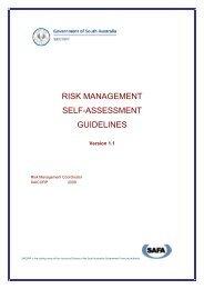 RISK MANAGEMENT SELF-ASSESSMENT GUIDELINES