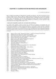 elaboration des materiaux non organiques - Mécanique Matériaux ...