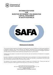 information paper for investor retirement visa migration capital ...