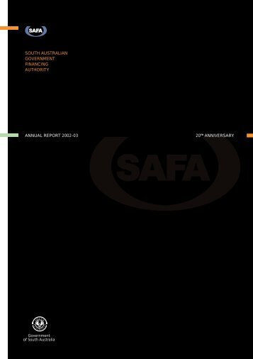 Annual Report for 2002 - South Australia Government Financing ...