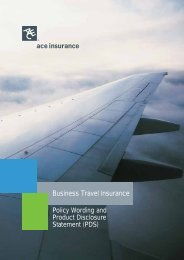 Business Travel Insurance Statement (PDS)