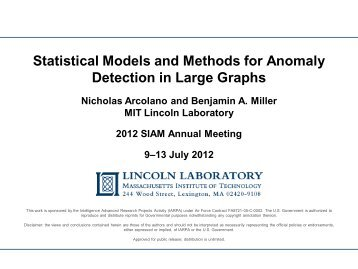 Statistical Models and Methods for Anomaly Detection in Large Graphs