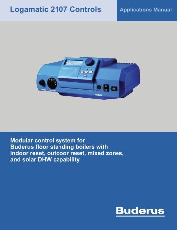 Logamatic 2107 Controls - Buderus