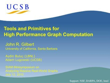 Tools and Primitives for High Performance Graph Computation