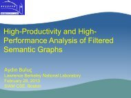 High-Productivity and High- Performance Analysis of Filtered Semantic Graphs