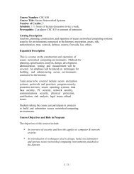 1 /3 Course Number: CSC 650 Course Title: Secure Netoworked ...