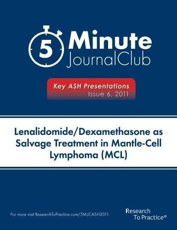 Lenalidomide/Dexamethasone as Salvage Treatment in Mantle-Cell Lymphoma (MCL)