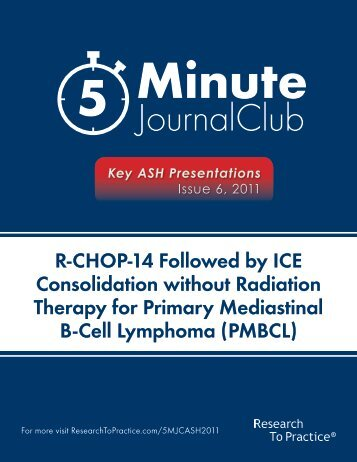 Therapy for Primary Mediastinal B-Cell Lymphoma (PMBCL)