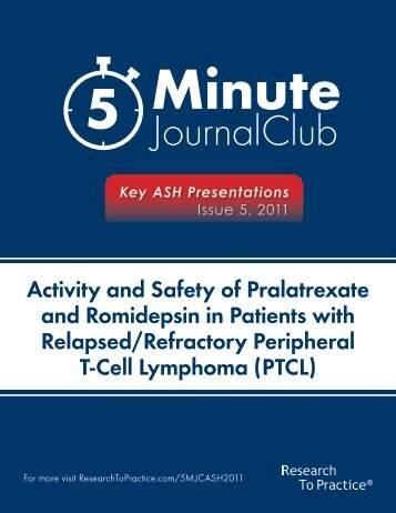 Relapsed/Refractory Peripheral T-Cell Lymphoma (PTCL)