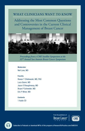 and Controversies in the Current Clinical Management of Breast Cancer