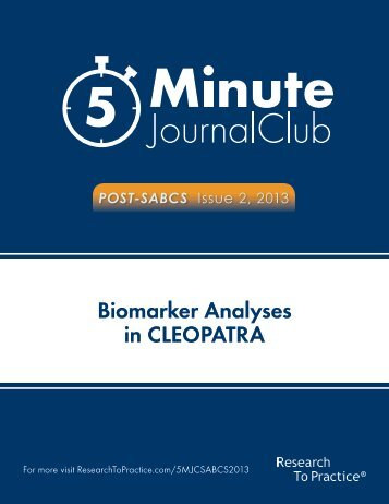 Biomarker Analyses in CLEOPATRA