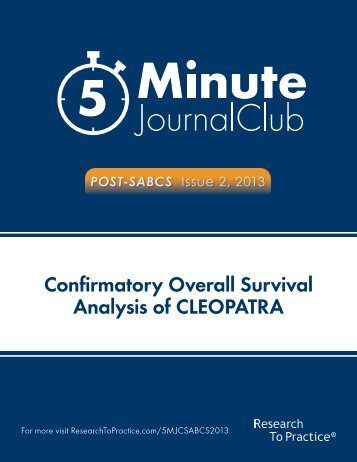 Confirmatory Overall Survival Analysis of CLEOPATRA